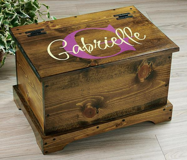 Plum Monogram Personalized Trunk