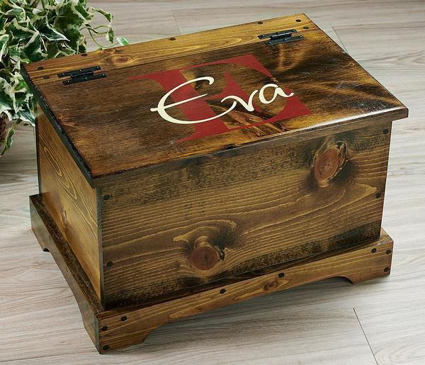 Red Monogram Personalized Trunk