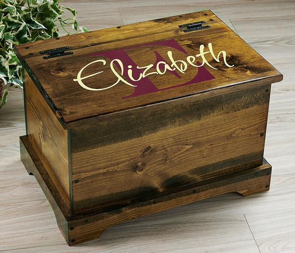 Raspberry Monogram Personalized Trunk