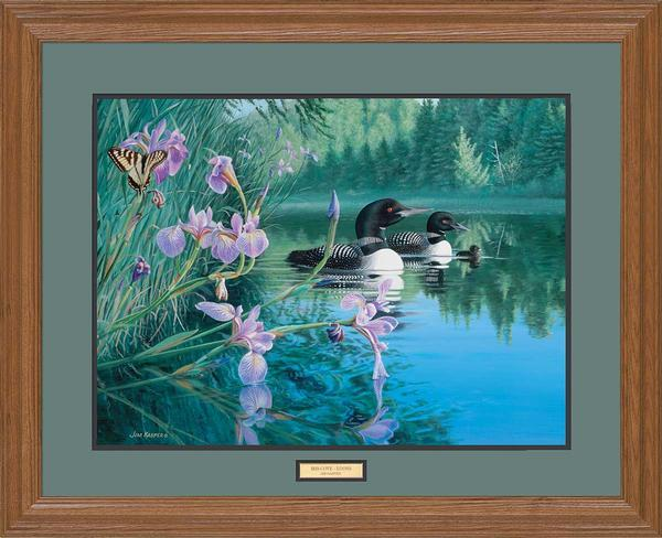 <I>Iris Cove&mdash;loons</i> Gna Premium Framed Print<Br/>25H X 31W Art Collection