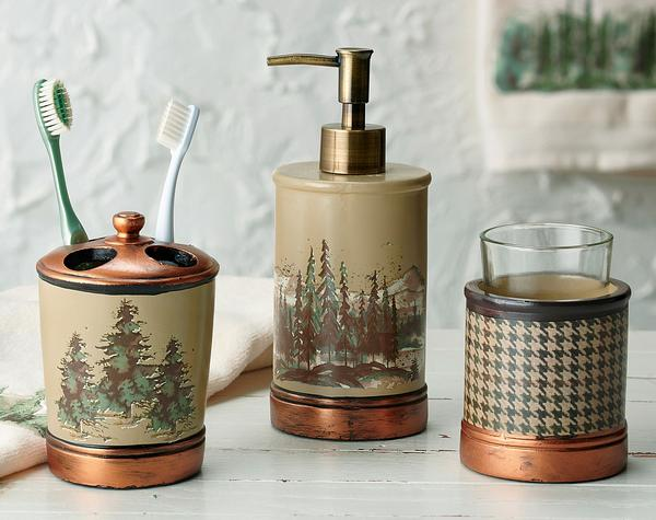 Pine Forest Bath Accessories