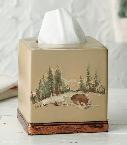 Pine Forest Tissue Box Cover