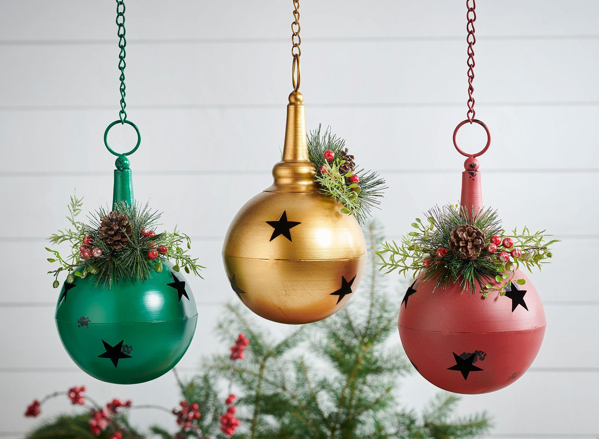 Jumbo Metal Bell Ornaments