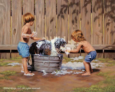 Why Me?—Kids Washing Dog.