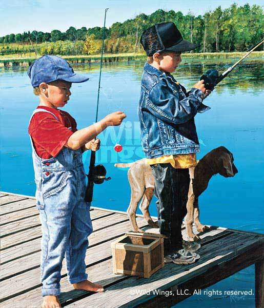 Taut & Tangled—Kids Fishing.