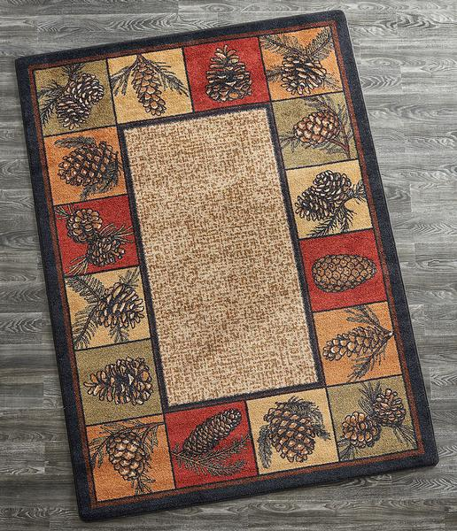 Pinecones Area Rug Collection