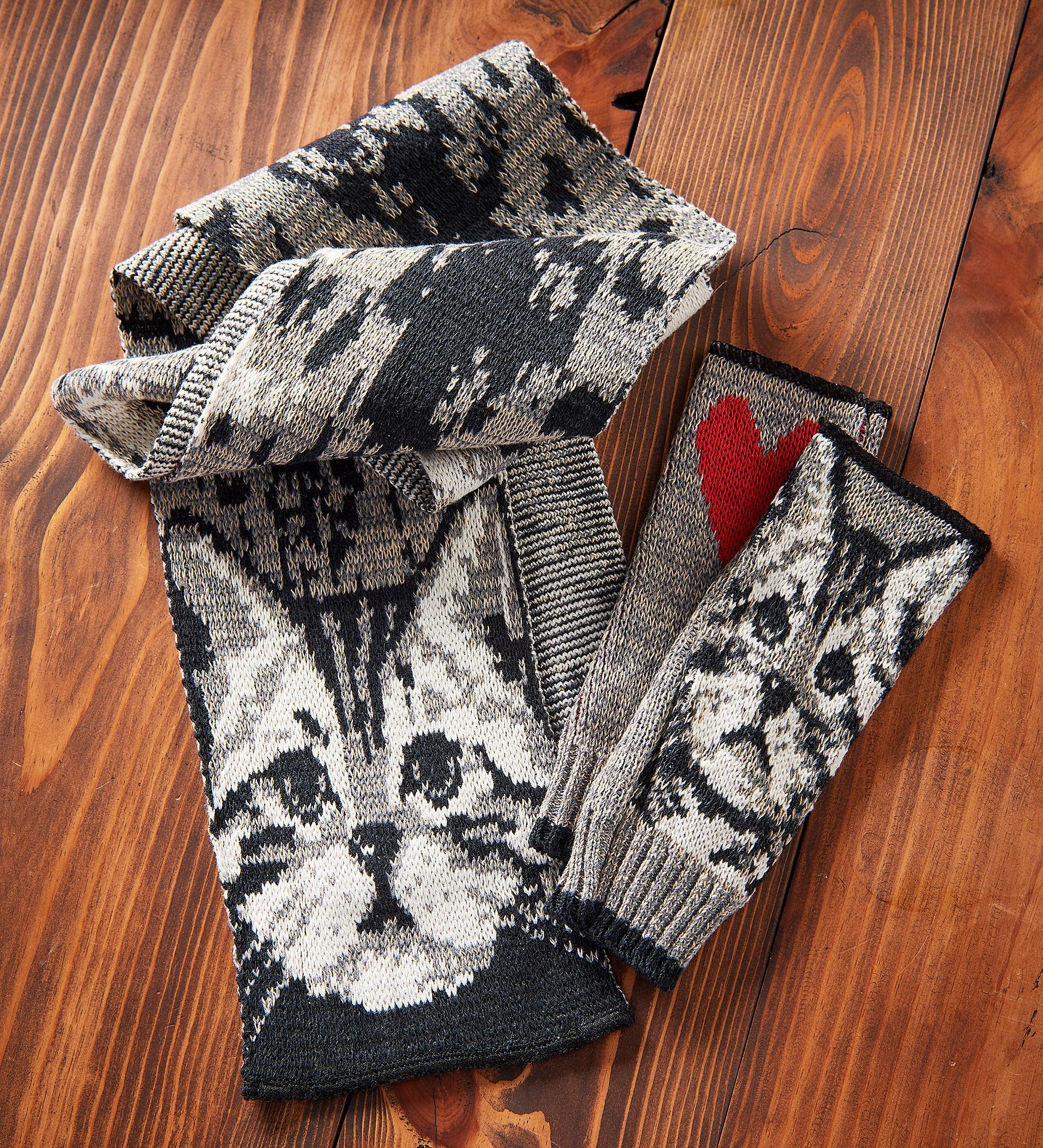 Kitty Scarf & Handwarmers