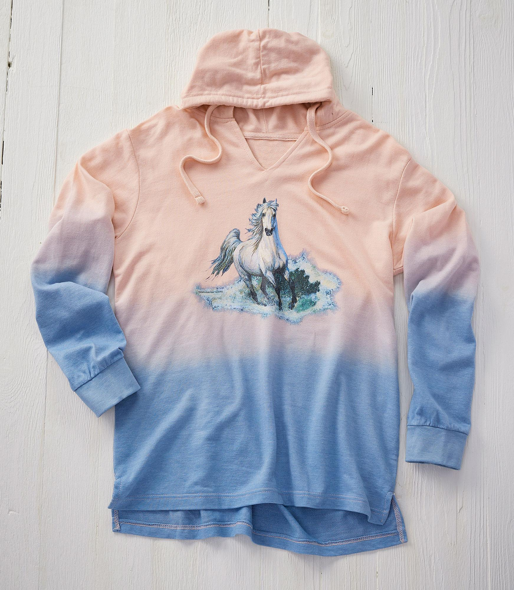 Ladies Horse Ombre Sweatshirt