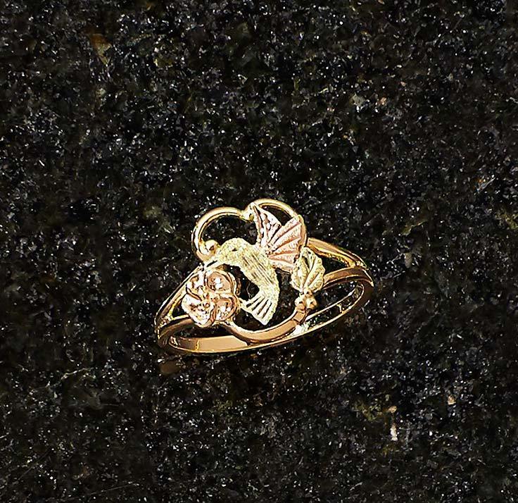 Black Hills Gold Hummingbird Ring