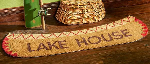 Lake House Canoe Area Rug