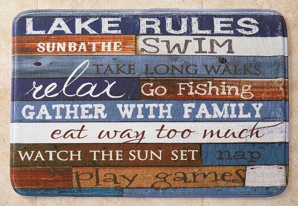 Lake Rules Bath Mat