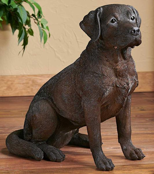 Adult Chocolate Lab Sculpture