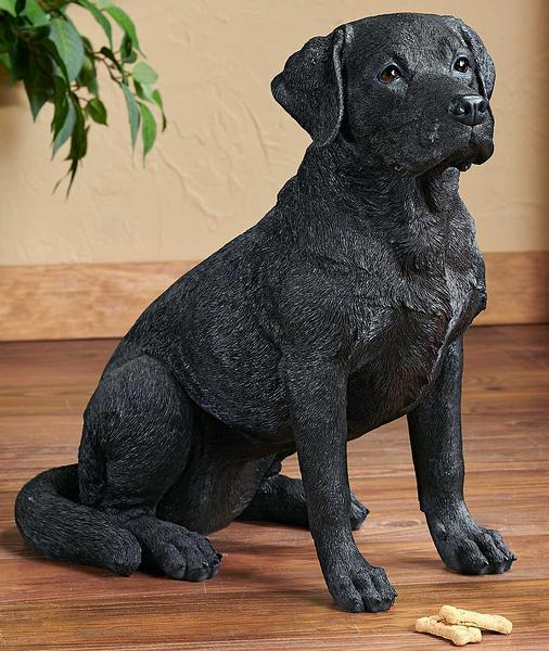 Adult Black Lab Sculpture