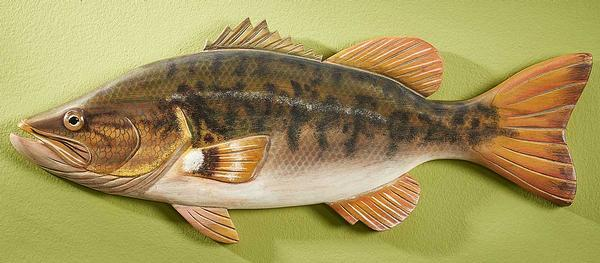 Largemouth Bass Wood Wall Decor