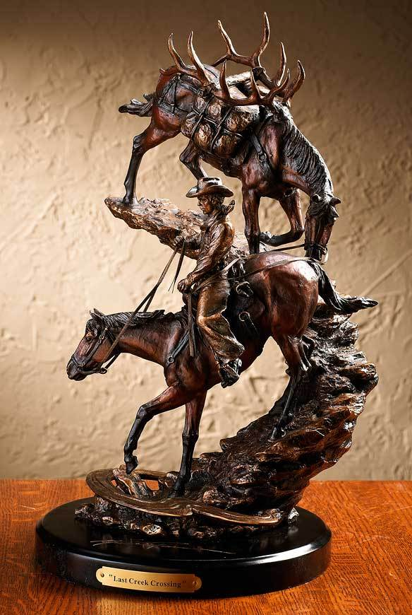 Last Creek Crossing—cowboy Sculpture