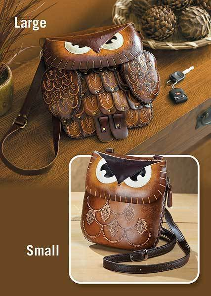 Leather Owl Handbag Collection