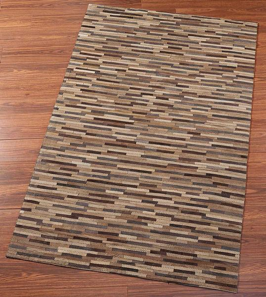 Leather Patch Area Rug Collection