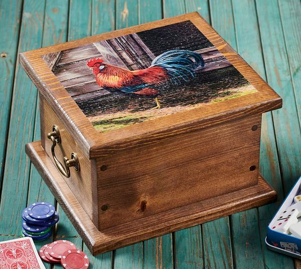 <I>Leghorn Rooster</i> Storage Chest