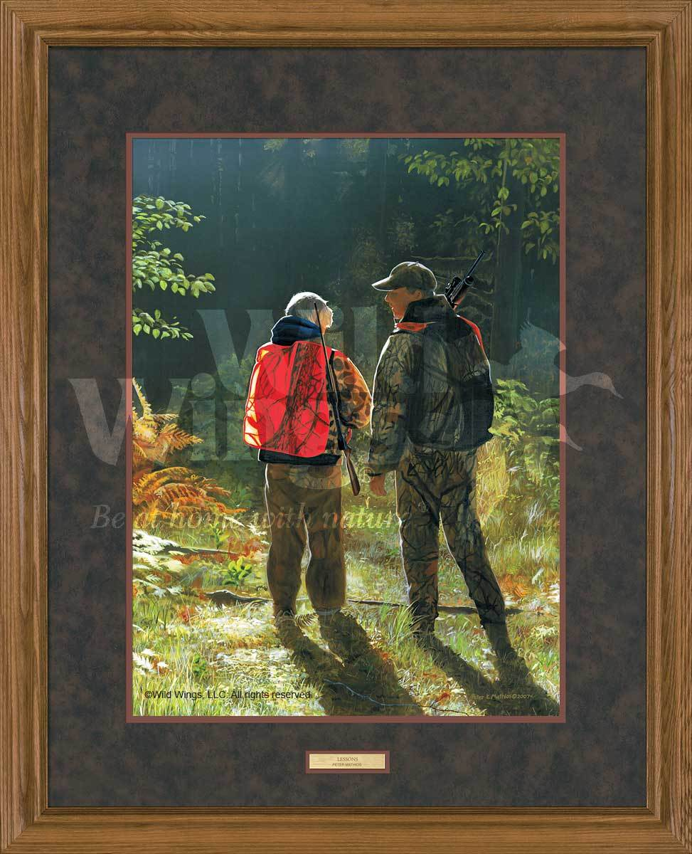 <I>Lessons&mdash;hunters</i> Gna Premium Framed Print<Br/>31H X 25W Art Collection