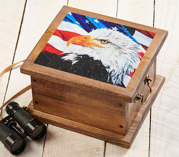 Let Freedom Ring—bald Eagle Storage Chest