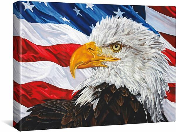 <I>Let Freedom Ring&mdash;bald Eagle</i> Gallery Wrapped Canvas