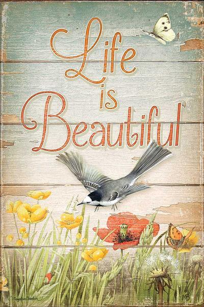 <I>Life Is Beautiful</i> 12 X 18 Wood Sign