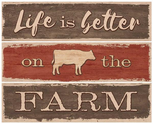 Life is Better on the Farm—Cow.