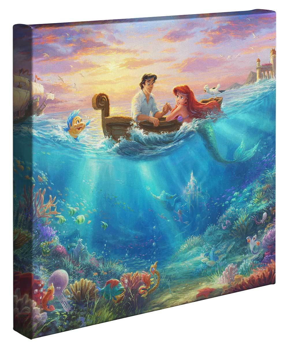 <I>Little Mermaid Falling In Love</i> Gallery Wrapped Canvas