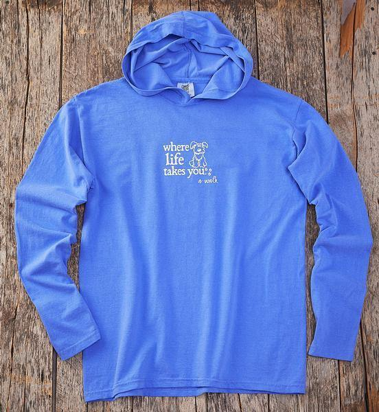 Walk Dog-Blue Long-sleeved Shirt
