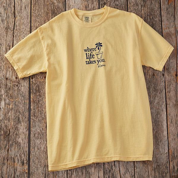 Flower Bloom-Yellow Short-sleeved Shirt