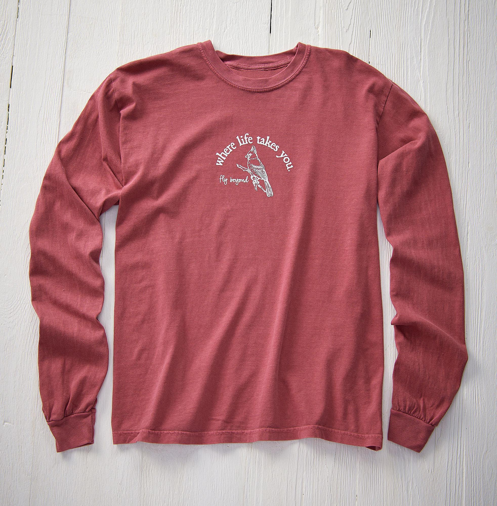 Living the Dream-Cardinal Long-Sleeved Shirt