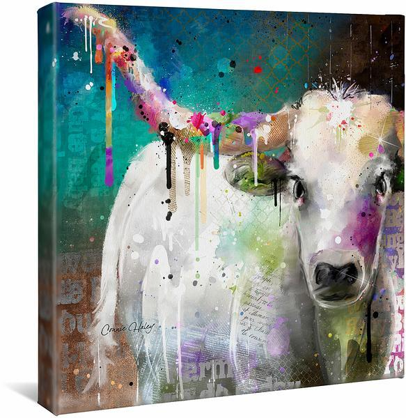 <I>Longhorn</i> Gallery Wrapped Canvas