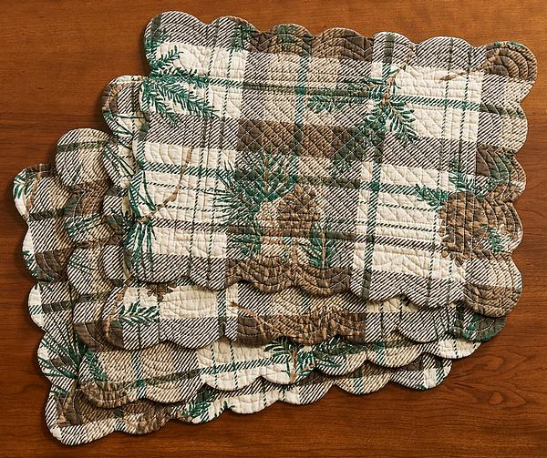 Pine Plaid Rectangle Placemats