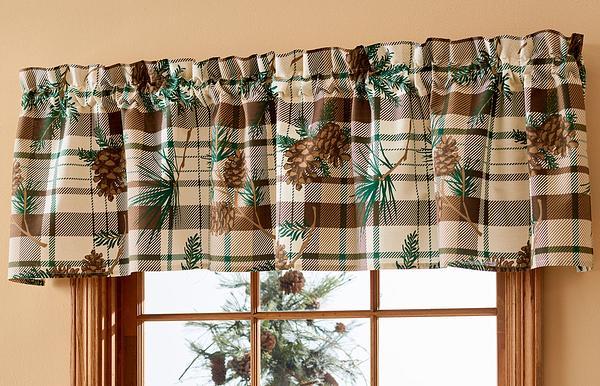 Pine Plaid Valance