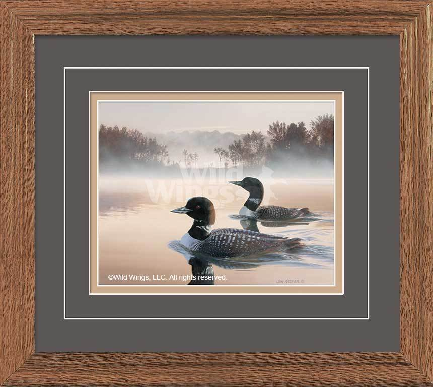 <I>Sepia Tones&mdash;loons</i> Gna Deluxe Framed Print