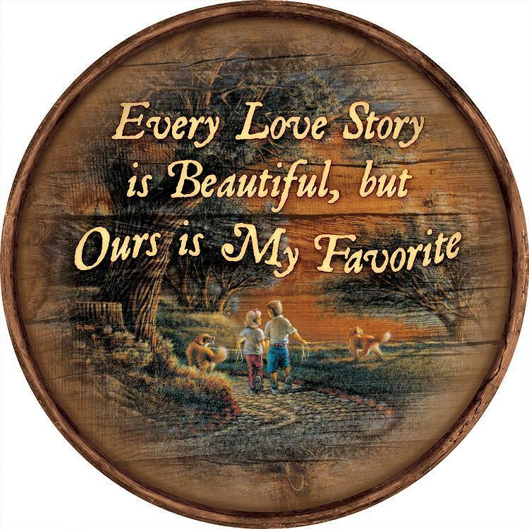 Love Story 21 Round Wood Sign Collection