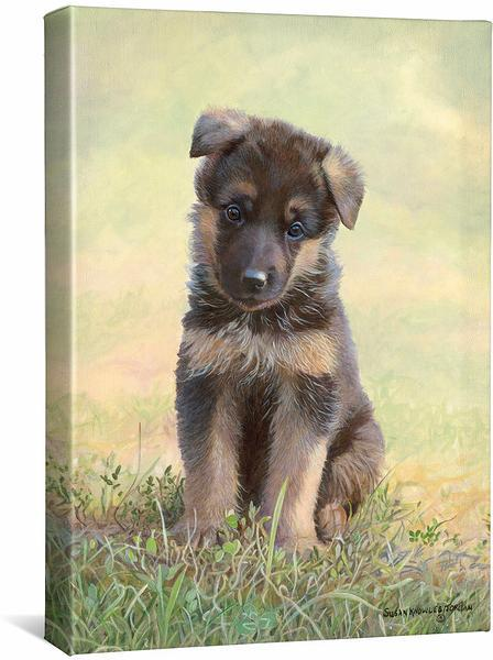 <I>Lucky Enough&mdash;german Shepherd</i> Gallery Wrapped Canvas