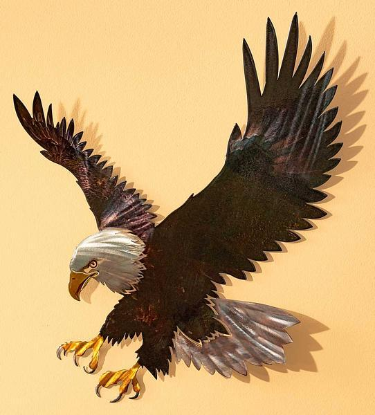 Majestic Bald Eagle Metal Wall Art