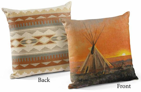 Medicine Man Lodge 18 Decorative Pillow