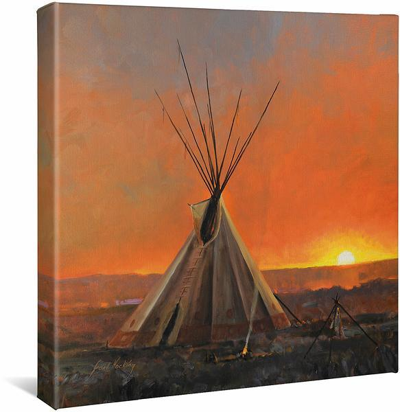 <I>Medicine Man Lodge&mdash;teepee</i> Gallery Wrapped Canvas
