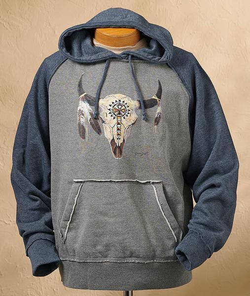 Bison Skull Hooded Sweatshirt