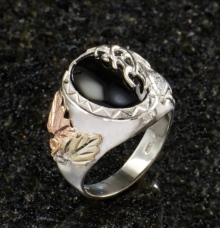Onyx Elk Mens Ring
