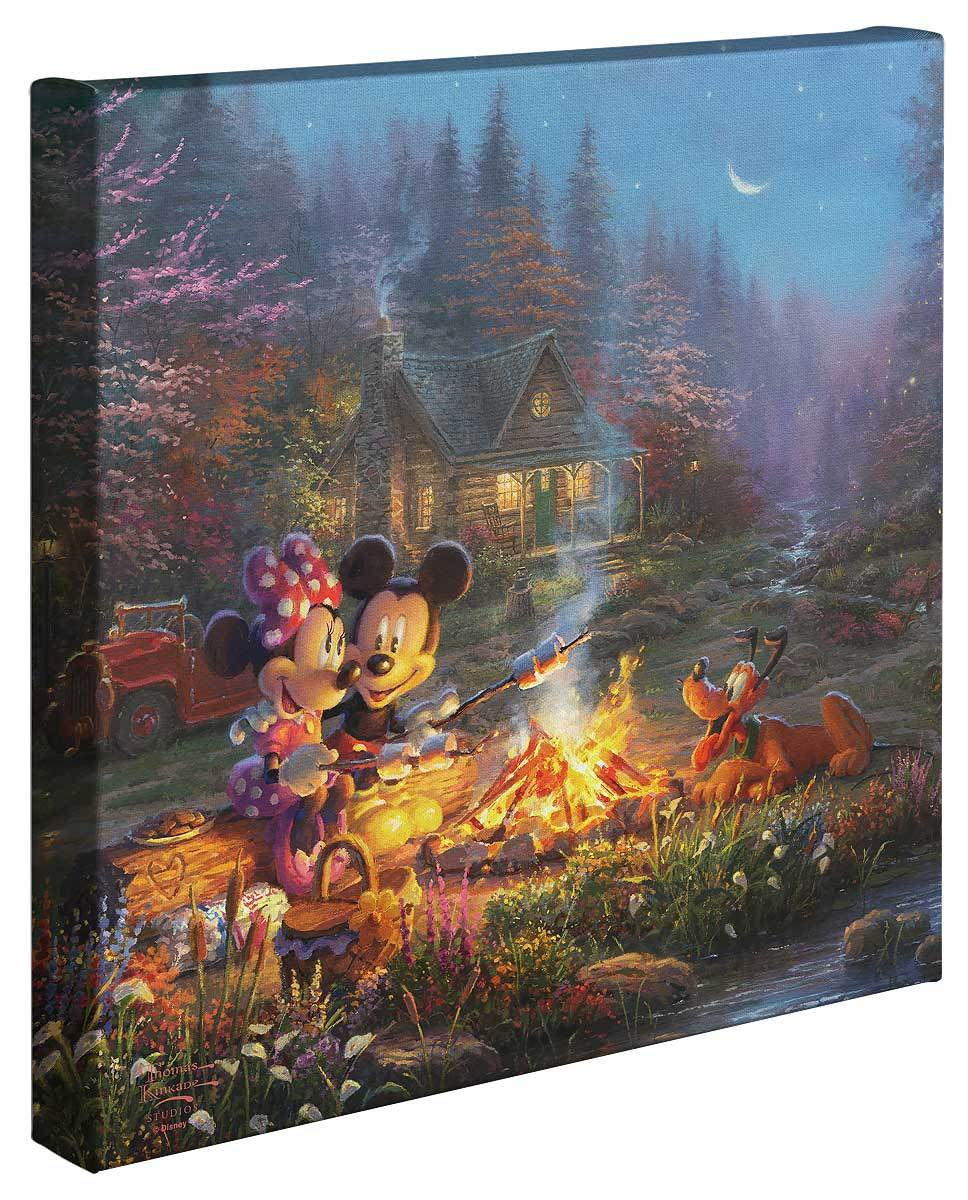 <I>Mickey And Minnie Sweetheart Campfire</i> Gallery Wrapped Canvas