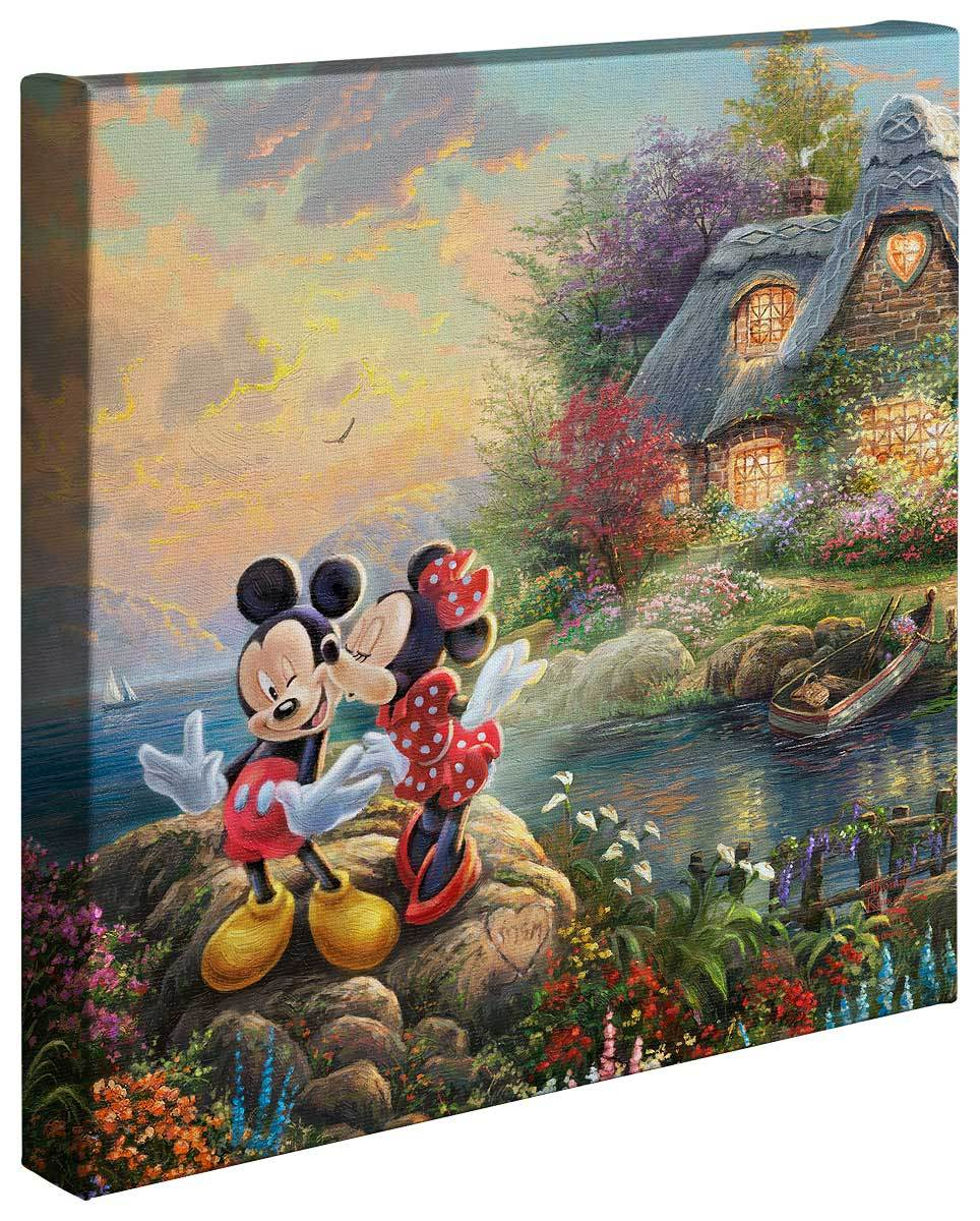 <I>Mickey And Minnie Sweetheart Cove</i> Gallery Wrapped Canvas