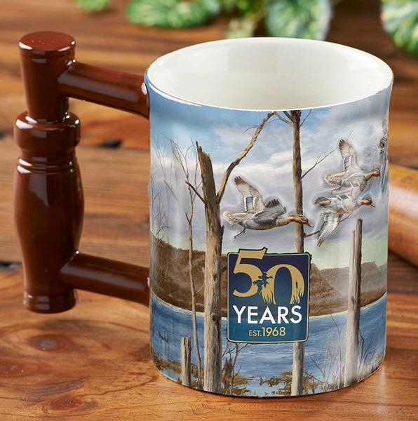 <I>50 Year Anniversary&mdash;waterfowl</i> Sculpted Mug