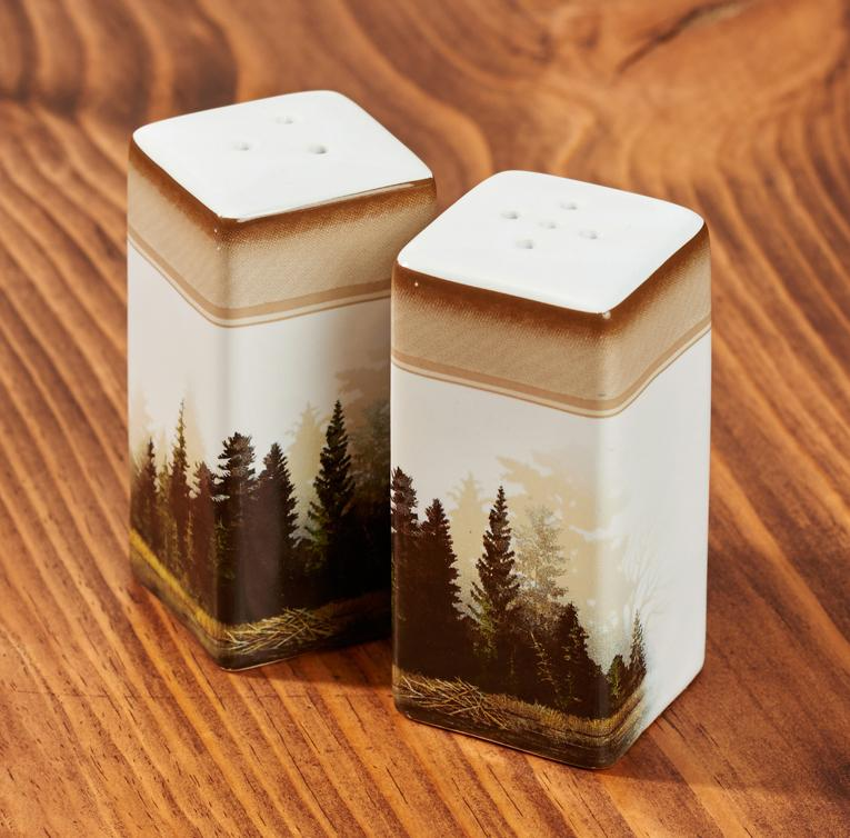 Misty Forest Salt & Pepper Shakers