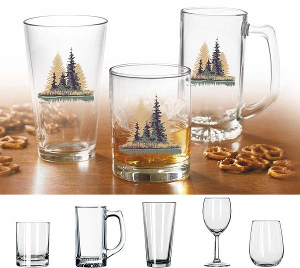 Misty Forest Glassware Collection