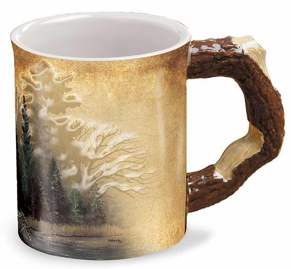 Misty Forest Sculpted Mug