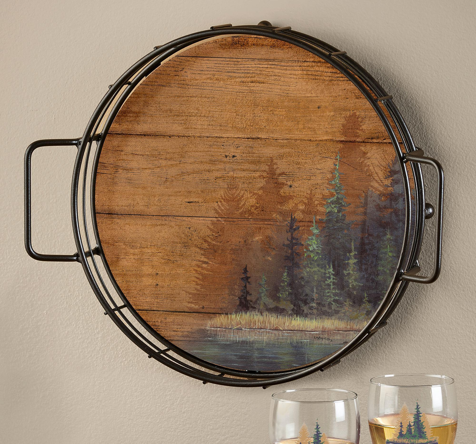 Misty Forest II Serving Tray