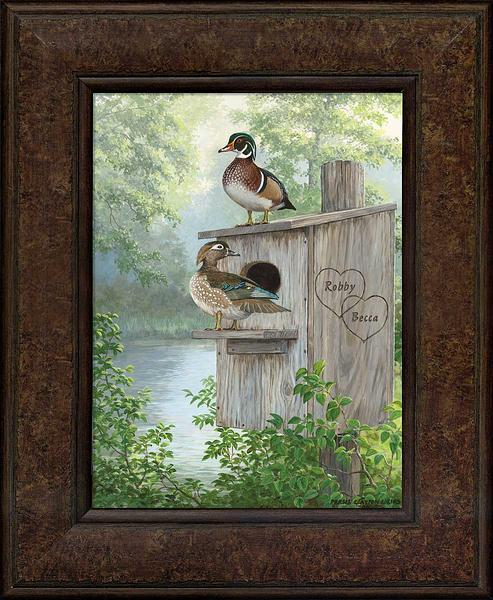 Misty Hideaway—Wood Ducks